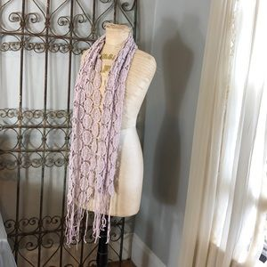Lucky Brand Scarf Boho Lace Dusty Pink